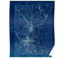 Massachusetts  USGS Historical Topo Map MA Providence 352969 1894 62500 Inverted Poster