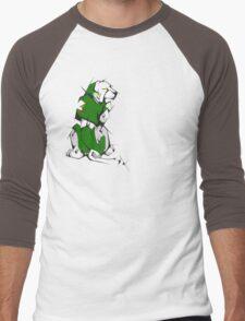 Green Voltron Lion Cubist Men's Baseball ¾ T-Shirt