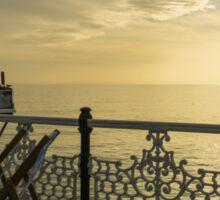Evening light, Brighton Pier Sticker