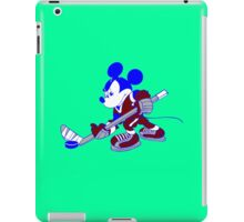 Mickey plays hockey geek funny nerd iPad Case/Skin
