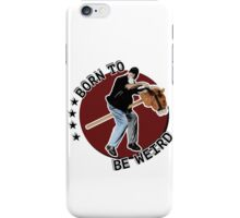 Hilarious biker playing on a stick horse  iPhone Case/Skin