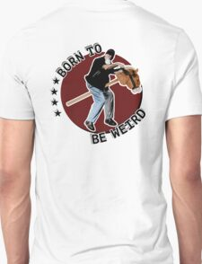 Hilarious biker playing on a stick horse  Unisex T-Shirt