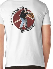 Hilarious biker playing on a stick horse  Mens V-Neck T-Shirt