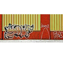 A wall in Detroit Photographic Print