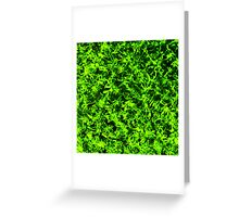 Grass-Emerald Ghosts Greeting Card