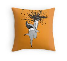 Seductive Ghost (Color Burst) Throw Pillow