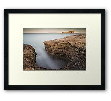 Carved by the Sea - Ballintoy Framed Print