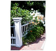 Blooming Fence Poster