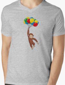 Curious George  Mens V-Neck T-Shirt