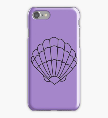 Mermaid Shell - Outline  iPhone Case/Skin