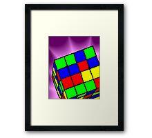 Multi Coloured cube Sudoku game Framed Print