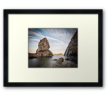 Sheep Island - Ballintoy Framed Print