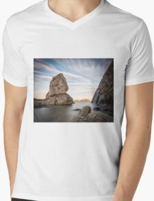 Sheep Island - Ballintoy Mens V-Neck T-Shirt