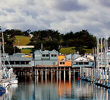 Monterey Boat Harbor and Old Fisherman's Wharf by JimPavelle