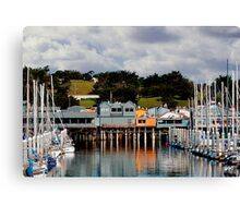 Monterey Boat Harbor and Old Fisherman's Wharf Canvas Print