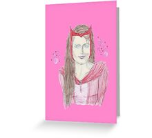 Real Scarlet Witch Greeting Card