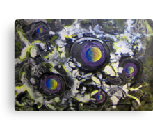 Space 5, an acrylic painting * Canvas Print