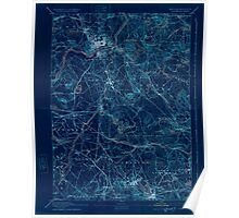 Massachusetts  USGS Historical Topo Map MA Lawrence 352799 1893 62500 Inverted Poster