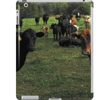 Don't try this at home..cow tipping..☺ iPad Case/Skin