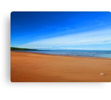 Harmonic Beach - Sand, Sea and Sky Canvas Print