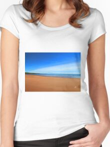 Harmonic Beach - Sand, Sea and Sky Women's Fitted Scoop T-Shirt