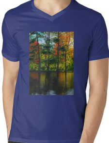 Forest Reflections Mens V-Neck T-Shirt