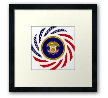 Utah Murican Patriot Flag Series Framed Print