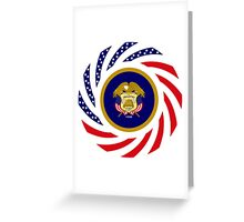 Utah Murican Patriot Flag Series Greeting Card