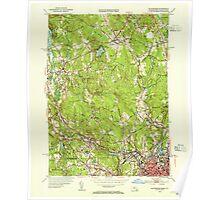 Massachusetts  USGS Historical Topo Map MA Blackstone 351553 1953 31680 Poster