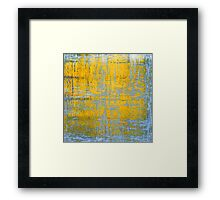 Yellow Ice Abstract Framed Print
