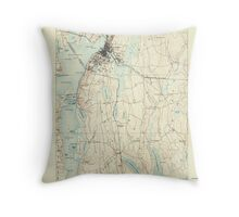 Massachusetts  USGS Historical Topo Map MA Fall River 352614 1888 62500 Throw Pillow