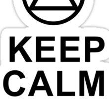 Keep Calm, Stay Sober Sticker