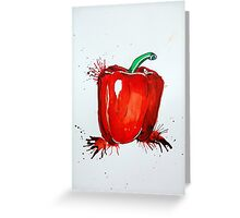 Red Pepper Rectangle Greeting Card