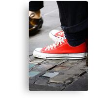 Toe-tap with me? Canvas Print