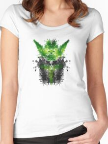 Rorschach Yoda Women's Fitted Scoop T-Shirt