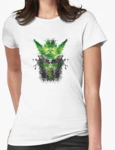 Rorschach Yoda Womens Fitted T-Shirt