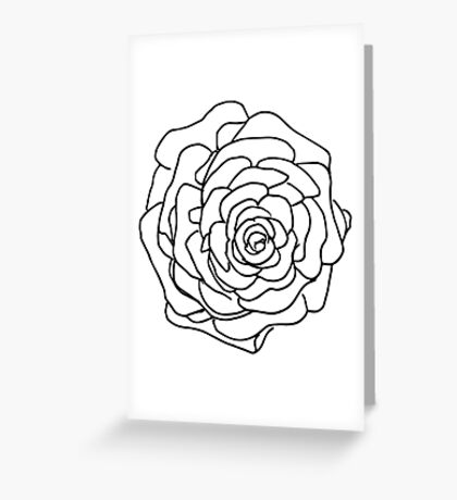 Pine Cone Sketch Greeting Card