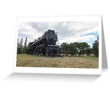 Steam locomotive on display Greeting Card