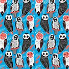 pattern of owls by Tanor