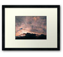 Fluffy Evening Framed Print