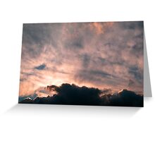 Fluffy Evening Greeting Card