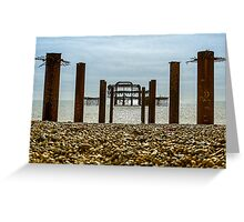 The West Pier, Brighton Greeting Card