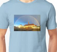 Rainbow over the Houses of Parliament in Copenhagen, Denmark Unisex T-Shirt