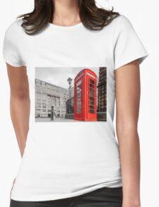 British Red Telephone Box Womens Fitted T-Shirt