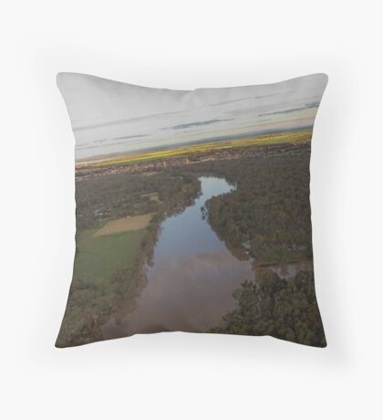 Murray to Yarrawonga Throw Pillow