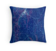 Massachusetts  USGS Historical Topo Map MA Fall River 352614 1888 62500 Inverted Throw Pillow