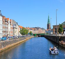 Copenhagen by Boat on a sunny summer Day, DENMARK by Atanas Bozhikov Nasko