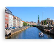 Copenhagen by Boat on a sunny summer Day, DENMARK Canvas Print