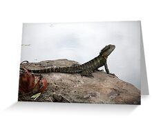 Majestic Lizard Greeting Card
