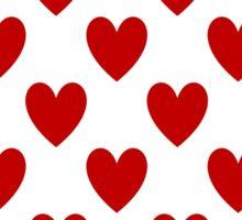 Red Hearts Sticker